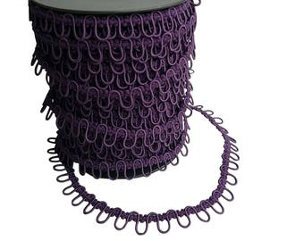 Purple Plum Elastic Bridal Button Loops