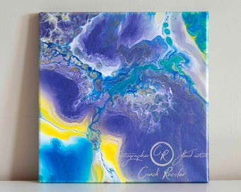 Fluid Painting, Acrylic Painting, Painting 91, Abstract Painting, Fine Art, Canvas Art, Housewarming Gift, Original Painting, Office Decor