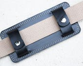 shoulder strap Pad - leather and wool felt combination