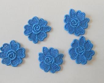 5 flowers lace 3 cm
