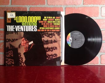 THE VENTURES 1,000,000.00 Weekend Vinyl Record Album LP 1967 In Shrink Surf Rock Holiday Music Vintage