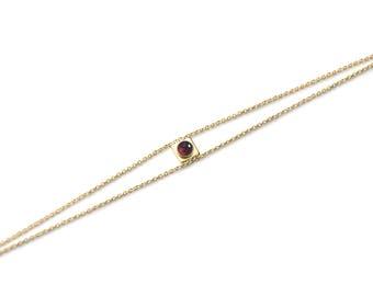 Gold Filled Bracelet Natural Stones / Collier - Tao / French Jewellery Designer / Bijoux de Créateur / Chic Romantic Ideal Gift