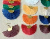 Fan Tassels, 2 tassels without  Hooks, Jewelry Making Tassels, Tassels Charms, Silk Tassels, Handmade Tassels