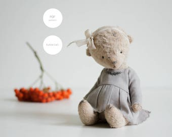 Pdf Sewing Pattern Mohair Teddy Bear Pattern Artist Teddy Bear In Clothes Stuffed Animal Pattern Soft Animal Sculpture 7 Inches For Women