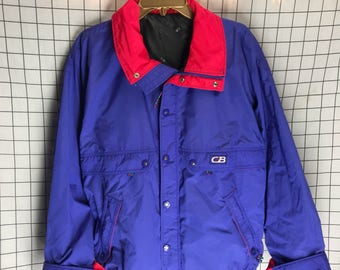 Vintage 80's/90's CB Sports Neon Bright Purple Windbreaker