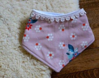 Organic Blush Flowers in Lace || Bandit Bib