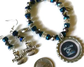 Dallas Cowboy Inspired Jewelry Set, Football jewelry, fan accessories, stocking stuffers, gift ideas, Texas football, Dallas Cowboys jewelry