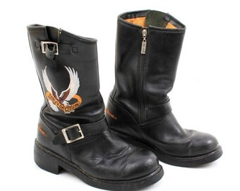 SALE Harley Davidson Leather Motorcycle Boots Size 40