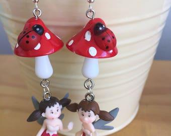 Toadstool Fairy Earrings