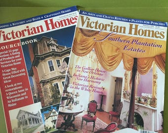 Two Victorian Homes Magazines-Southern Plantation Estates/Source Book