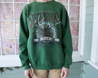 Vintage National Sportsman Sweatshirt Rocky Mountain Frontier