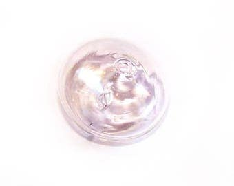 Globe glass saucer 22 mm with two openings for jewelry making
