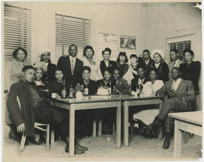 Birthday Celebration, Jackson, MS 1940s: Vintage 8x10 Photo (710613 O/S)