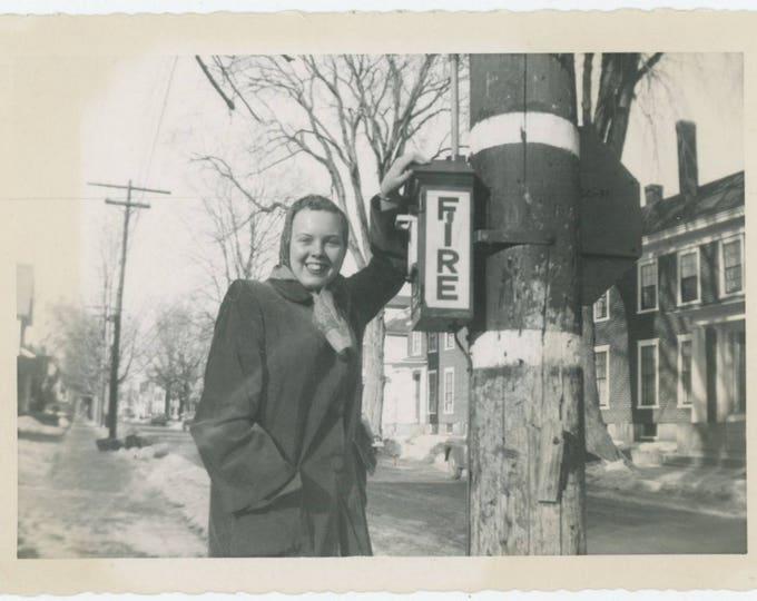 Vintage Snapshot Photo: Fire Box  (81636]