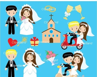 ON SALE INSTANT Download. Cwed_3_Wedding. Wedding clip art. Personal and commercial use.