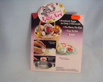 Instant Egg Art , easter egg wraps, 1980's