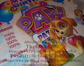 Skye Paw Patrol Chip /Treat Bag Digital Print DIGITAL DOWNLOAD .PNG