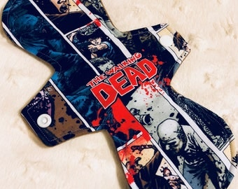 "10"" Moderate Cloth Pad - the walking  dead zombie"