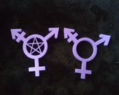 3D Printed Transgender symbol - With or without pentacle