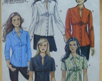 Free shipping! Vogue 8747 women's shirt sewing pattern 6 8 10 12 UNCUT