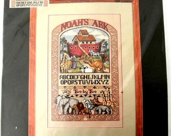 Dimensions Counted Cross Stitch Noah and the Ark Side by Side Kit 1995