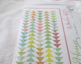 """Paper Pattern for a quilt called Spring House by Stephanie Ryan for Moda 55"""" x 67"""""""