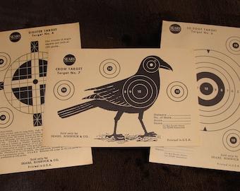 Vintage Crow Target # 7 Plus # 4 & # 6 Targets by Sears