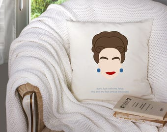 joan crawford pillow - joan crawford artwork - joan crawford decor - mommie dearest - decorative throw pillow . throw pillow with words -