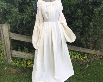 Women's chemise, adult renaissance costume, renaissance clothing, historical clothing, medieval gowns, medieval costumes, theatre costumes