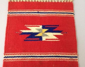 SALE / vintage handwoven textile / rug / wall hanging