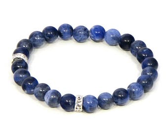 Sodalite anklet, sodalite jewelry, blue anklet, sodalite, anklets, beaded anklets, anklet, sodalite beads, sodalite stones, throat chakra