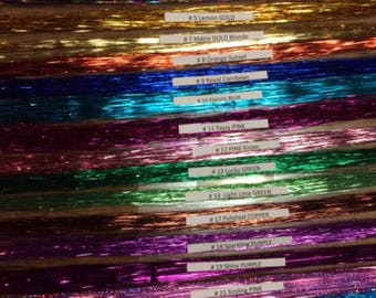 36 inch-100% Thai Silk Strands, 150 per pkg. tied to one piece of hair (bling, tinsel,shimmers,fairy hair)