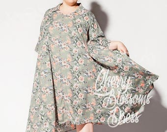 SALE ON 20 % OFF Plus size maxi dress/ Plus size/ Floral Maxi Dress/ Long sleeve dress/ Shirt dress/ Midi dress/ Maxi dress summer/ Party dr