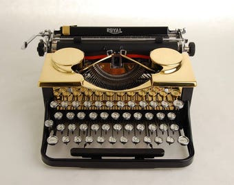 Gold Typewriter, Royal Standard Portable 1930s