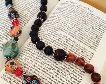 Upcycled Turquoise Skull Necklace