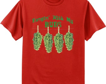 Stoner shirts pot leaf weed cannabis decal tee
