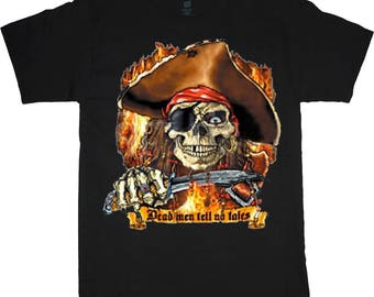 Pirate shirt dead men skull decal tee