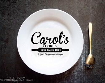Carols Cookies, Carol's Christmas Cookies, Christmas Plate, The Walking Dead, TWD,  Walking Dead Art, Ceramic Plate