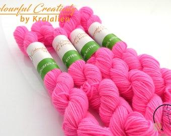 Fluoro Pink -  Colourful Smooth Sock Kitten