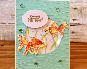 Set of 4 Just Keep Swimming Cards