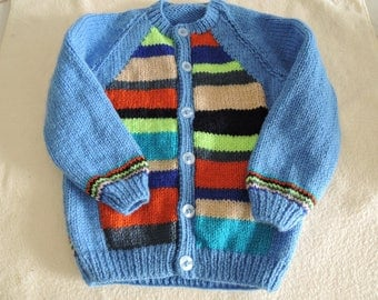 Baby/Toddler Cardigan/Jacket Unique Hand Knitted 22-24 Inch 18-24 Months