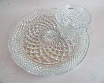 Wexford snack Plate w/cup Fantastic condition