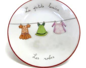 "Child's plate ""little dresses"""