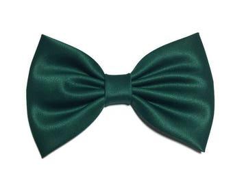 Hunter Green Hair Bow, Green Hair Bow, Girls Hairbow, Kawaii Attachable Bow, Baby Bows, Hunter Green Bow Tie, Hunter Baby Hair Bows,  ST053