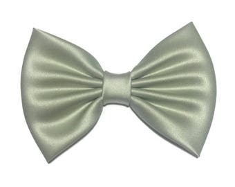 Sage Hair Bow, Satin Hair Bow Clip, Bows For Women, Kawaii Bows, Handmade Bow, Satin Fabric Bow, Lolita, Big Bow, Baby Girl Bow, ST026