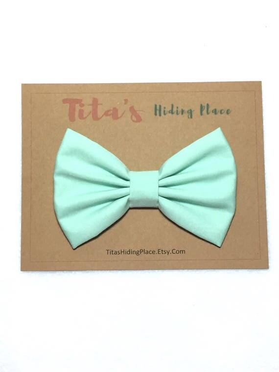 Mint Hair Bow, Hair Bows For Girls, Mint Hairbow, Kawaii Bow, Hair Bows For Women, Baby Bows, Mint fabric, Fabric Hair Bow, Big Bow