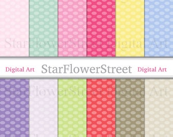 Dot Digital Paper spring polka dot oval pink printable scrapbook paper digital easter texture background
