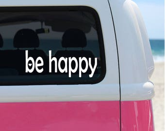 Happy Bumper Sticker Etsy - Create car decalsanime decal etsy