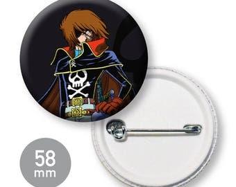 Cartoon Albator 58 mm badge