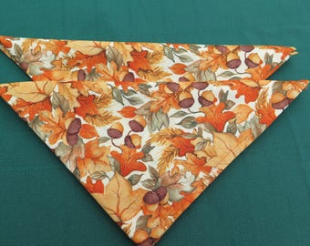 Cotton napkins.Acorn in Fall colors .Holiday napkins.Set of 1-2-4-6-8 napkins.